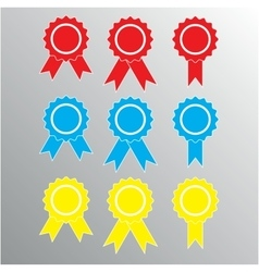 Pictograph of award different color vector image