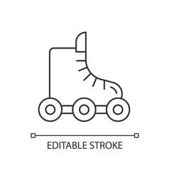 Rollerskate linear icon vector