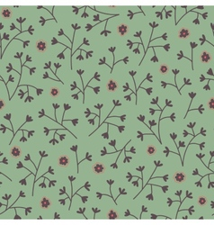 Seamless floral pattern with small flowers Endless vector image