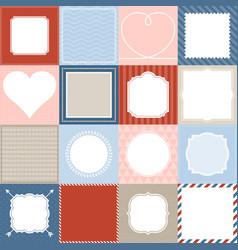 set 16 frame vector image