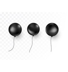set black air balloon isolated on transparent vector image