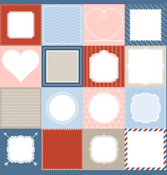 set of 16 frame vector image
