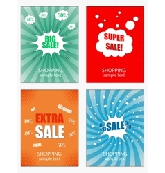 Set of sale banners template vector