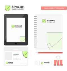 Sheild business logo tab app diary pvc employee vector