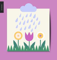 simple things - flowers vector image