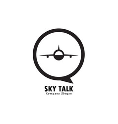 sky talk logo vector image