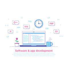 software and application development vector image