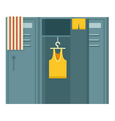 Sport dressing room icon flat style vector