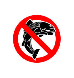 stop fish it is forbidden to fish red vector image