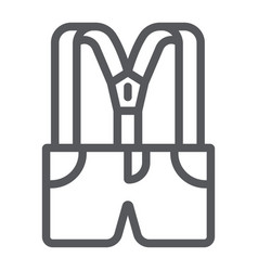 suspenders with pants line icon clothes and vector image