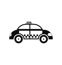 taxi black simple icon vector image