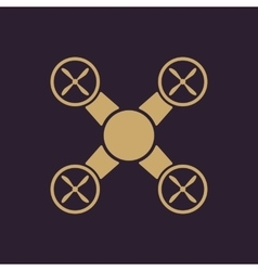 The quadrocopter icon Quadrocopter symbol Flat vector image