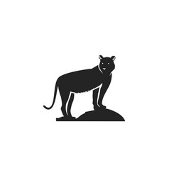 tiger black icon silhouette symbol tiger vector image