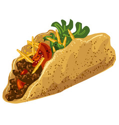 traditional tacos vector image