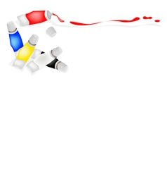 Tube of primary colors with white and black vector