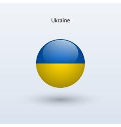 Ukraine round flag vector