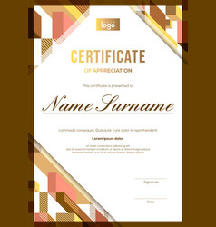 vertical modern luxury certificate completion vector image