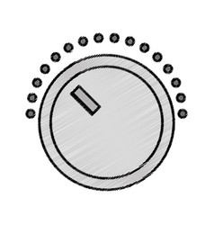 Volume control isolated icon vector