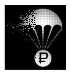 White sparkle pixelated halftone rouble rescue vector