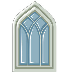 window design in medieval style vector image