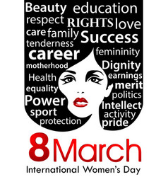 womens day poster 8 march international women day vector image