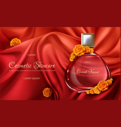Womens perfume 3d realistic vector