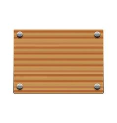 wooden board copy vector image