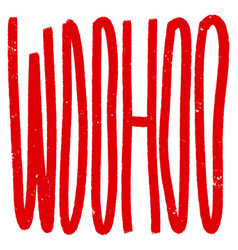 woohoo sticker for social media post hand drawn vector image
