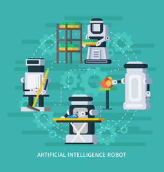 Artificial intelligence round composition vector