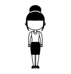 beautifull teacher avatar icon vector image