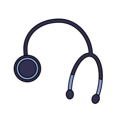 stethoscope medical equipment healthcare icon vector image