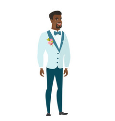 young african-american happy groom vector image vector image