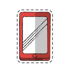 cartoon smartphone technology communication icon vector image