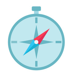 compass flat icon navigation and travel vector image