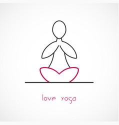 love yoga vector image vector image