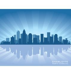 charlotte north carolina skyline vector image