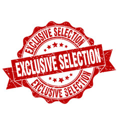 exclusive selection stamp sign seal vector image vector image