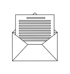 message envelope icon image vector image vector image