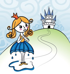 Rainkids - princess vector image vector image