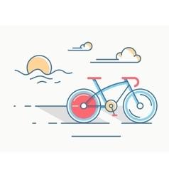 Sport bike line style vector image