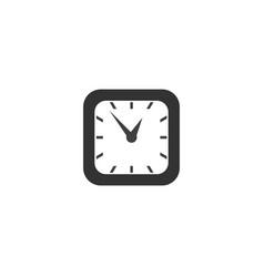 square classic simple clock icon symbol sign vector image vector image