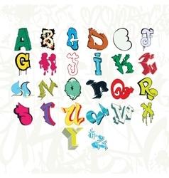 Graffiti font and tag vector image vector image
