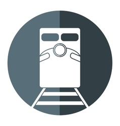 Train rail road mass transit gray circle vector