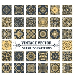 34 Seamless Patterns Background Collection vector image