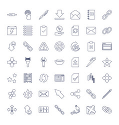 49 interface icons vector