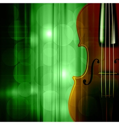 Abstract green music background with violin vector