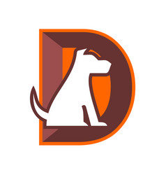 Abstract letter d dog logo icon vector