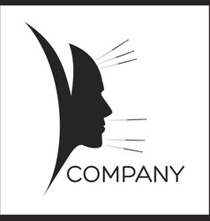acupuncture and face man logo vector image