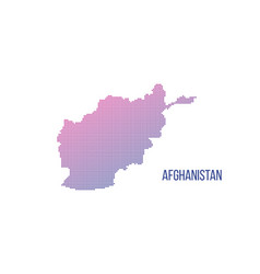 afghanistan map halftone composition made out of vector image