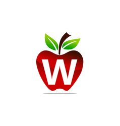 Apple letter w logo design template vector